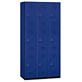Triple Heavy Duty Plastic Lockers