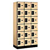Box Style Designer Wood Lockers