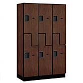 """S"" Style Extra Wide Designer Wood Lockers"